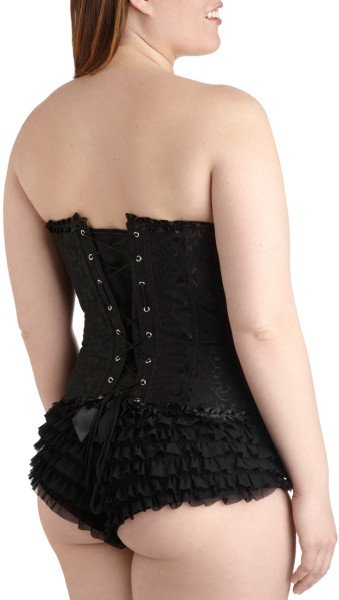 Corset Back Mod Cloth Plus Size