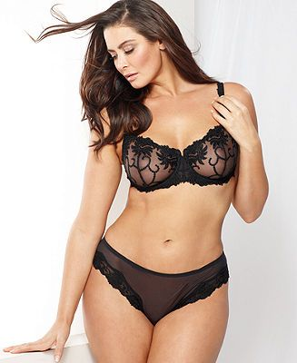 Lunaire Sevilla Embroidered Demi Bra and Tanga