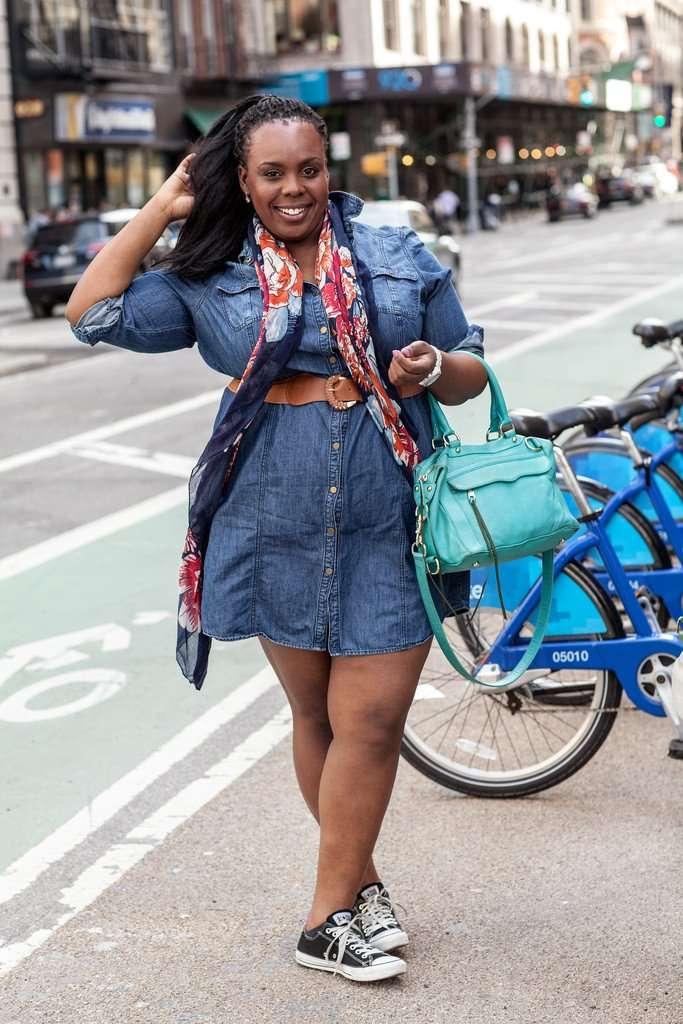 Plus Size Denim Shirt Dress | Plus Size Fashion - CeCe Olisa