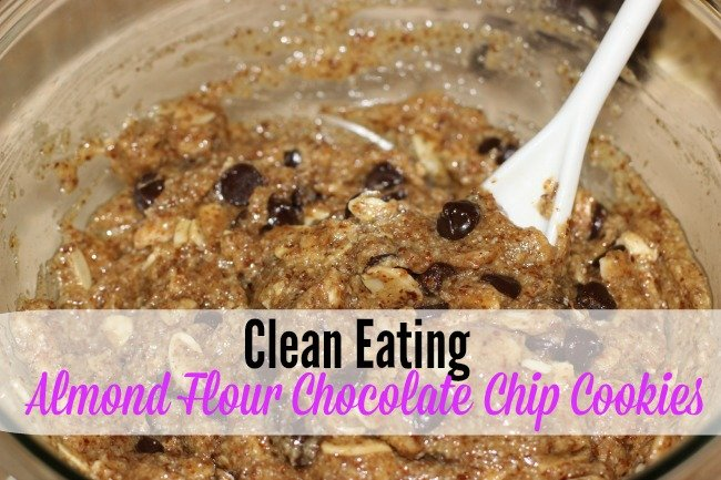 Clean Eating Almond Flour Chocolate Chip Cookies