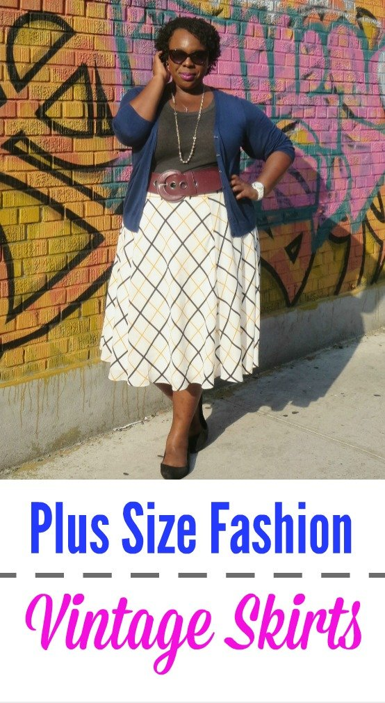 plus size fashion vintage skirts tshirts collage