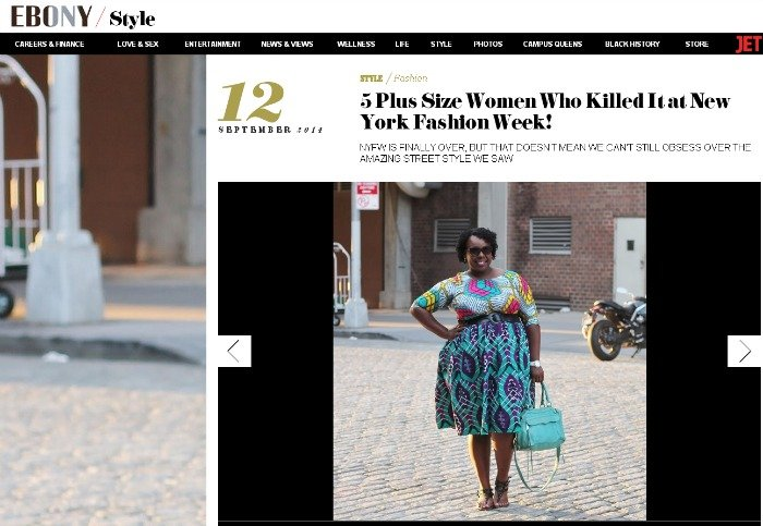CeCe Olisa Ebony Ankara Plus Size Fashion