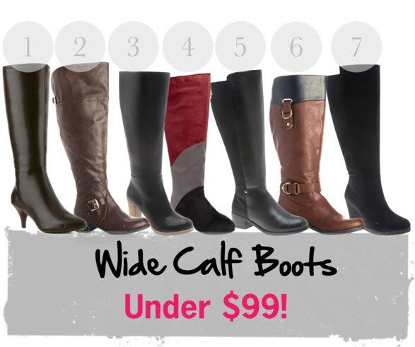 Wide Calf Boots Under $99 2014
