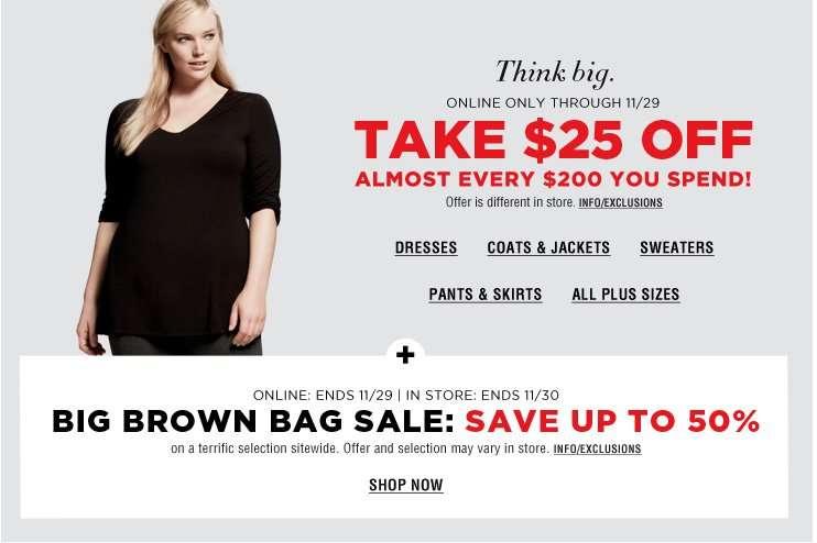 Bloomingdales Plus Size Sales
