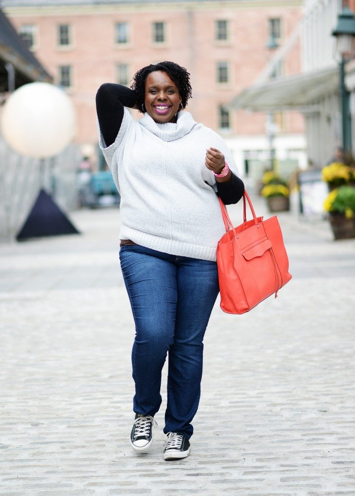 CeCe Olisa Plus Size Sweaters How to Layer