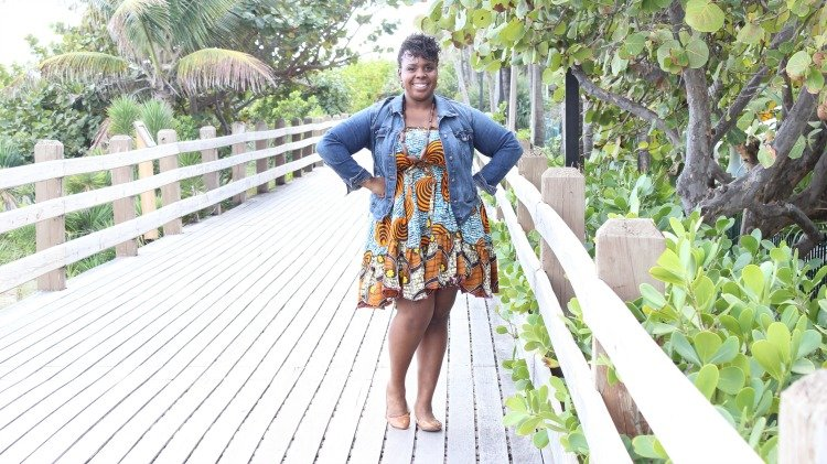 CeCe Olisa Miami Ankara Dress Plus Size Fashion