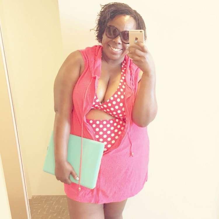 CeCe Olisa Plus Size Bikini Polka Dot High Waist