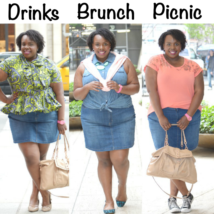 Kohl's Summer Denim Skirt 3 Ways (1)