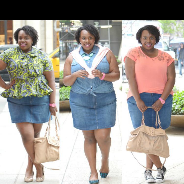 Kohl's Summer Denim Skirt 3 Ways (1)