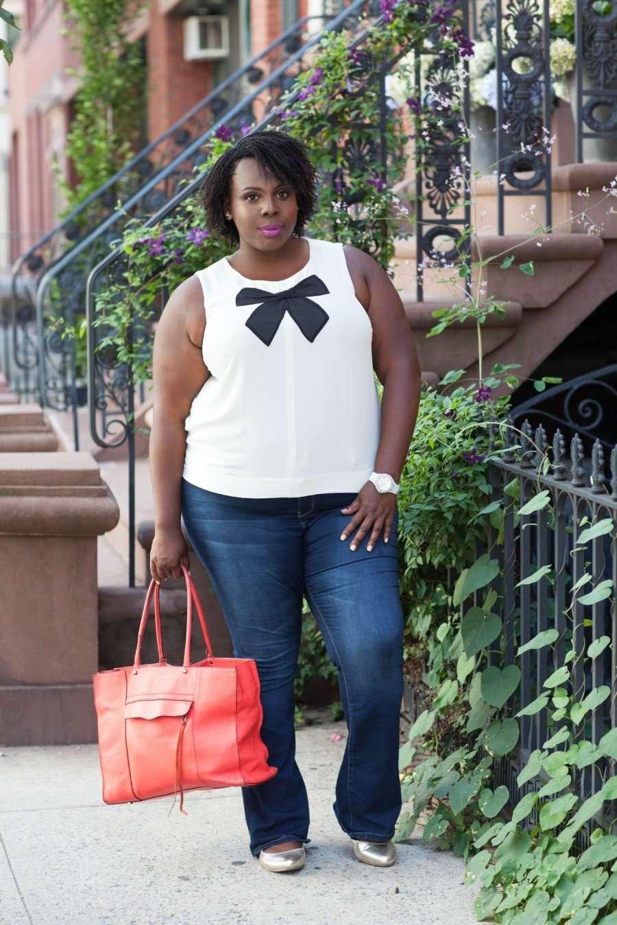 CeCe Olisa Plus Size Fashion Flared Jeans