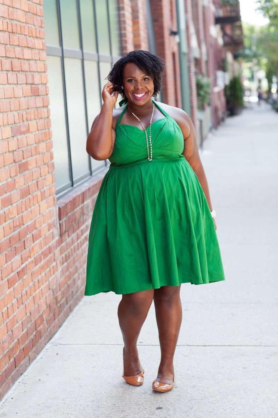 CeCe Olisa Plus Size Fashion Blog Vintage Halter Eshakti