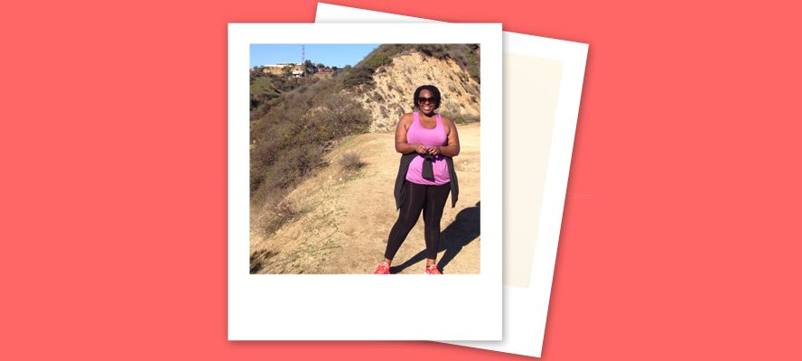 plus size hiking runyon canyon cece olisa