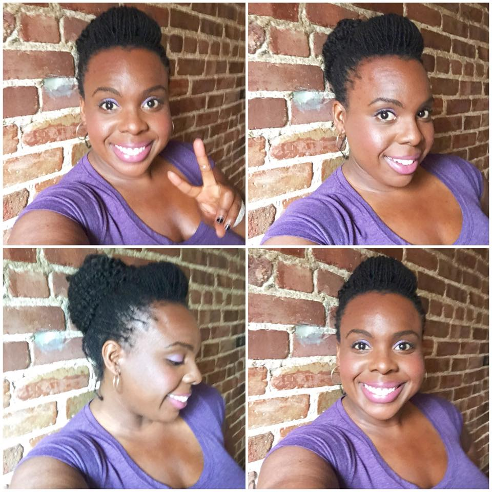 loc hairstyle tutorial: marley bun on short sisterlocks