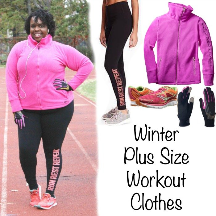 Winter plus size running gear cece olisa pin it on pinterest winter plus size workout clothes sciox Images