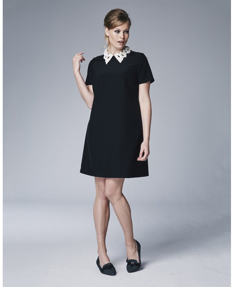 Plus Size Pearl Collar Dress PlusSizePrincess.com