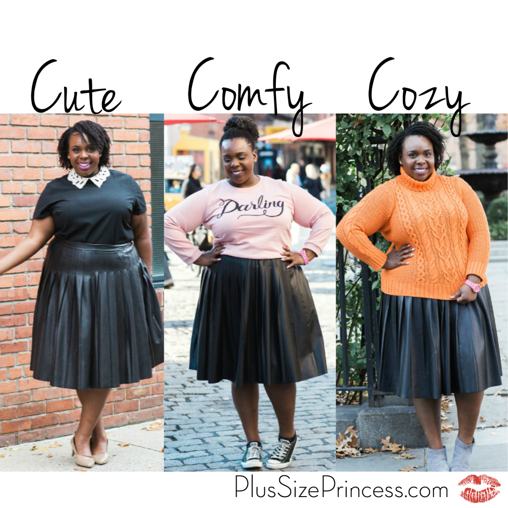 Three Ways to Wear a Pleated Leather Skirt - CeCe Olisa
