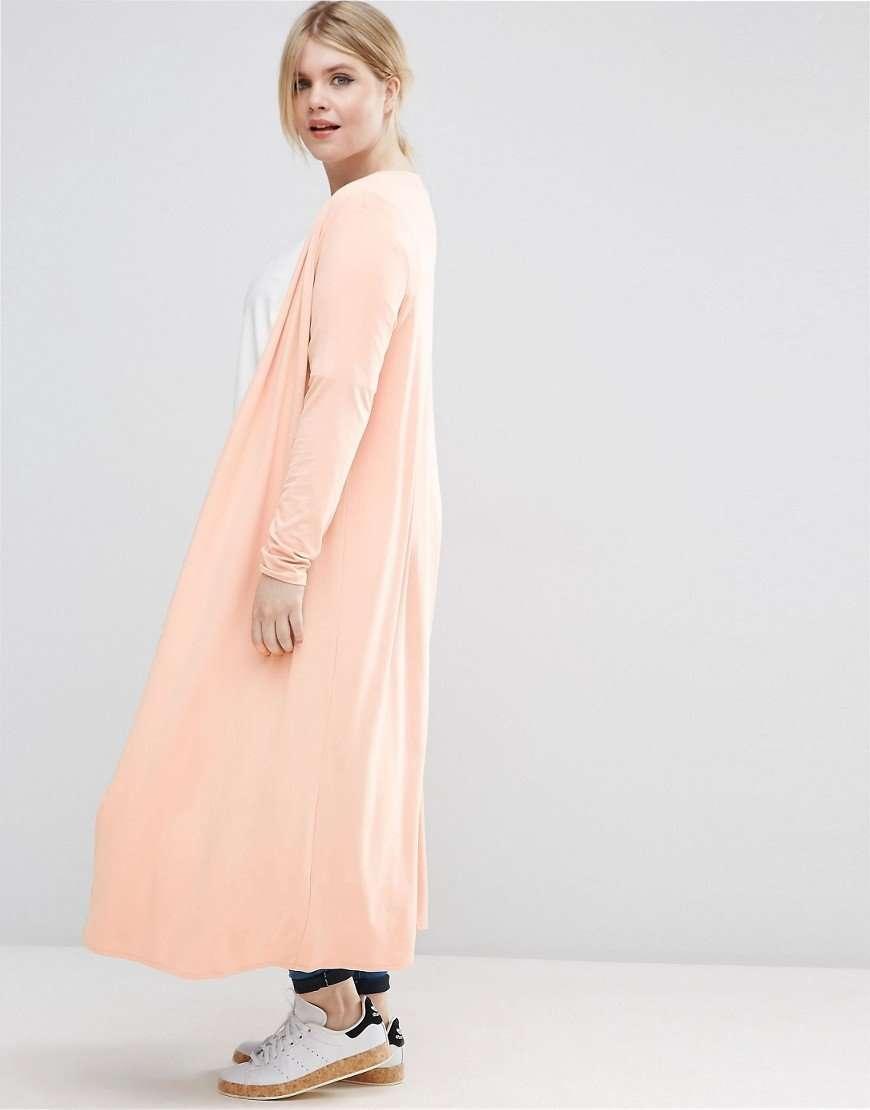 blush longline cardigan