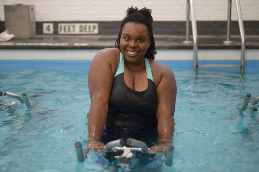 CeCe Olisa #BodyPositiveWorkout Swimsuitsforall 2