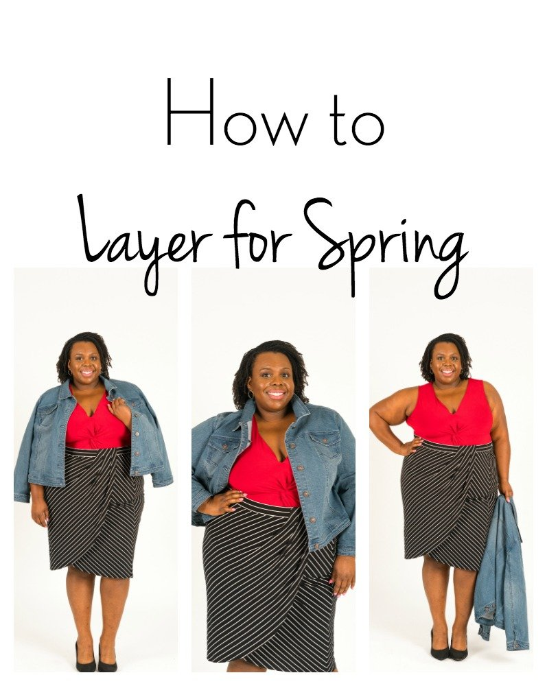How to Layer For Spring CeCe Olisa Plus Size Style